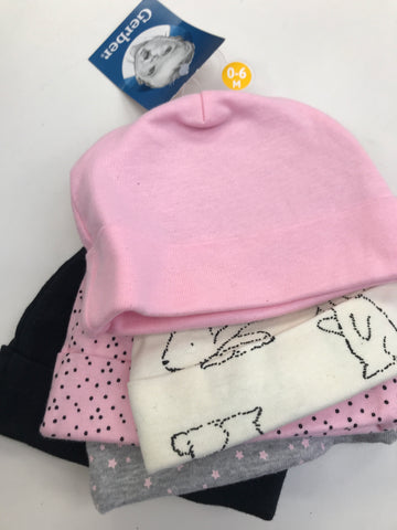 Infant NB Beanie Hats Pack of 5