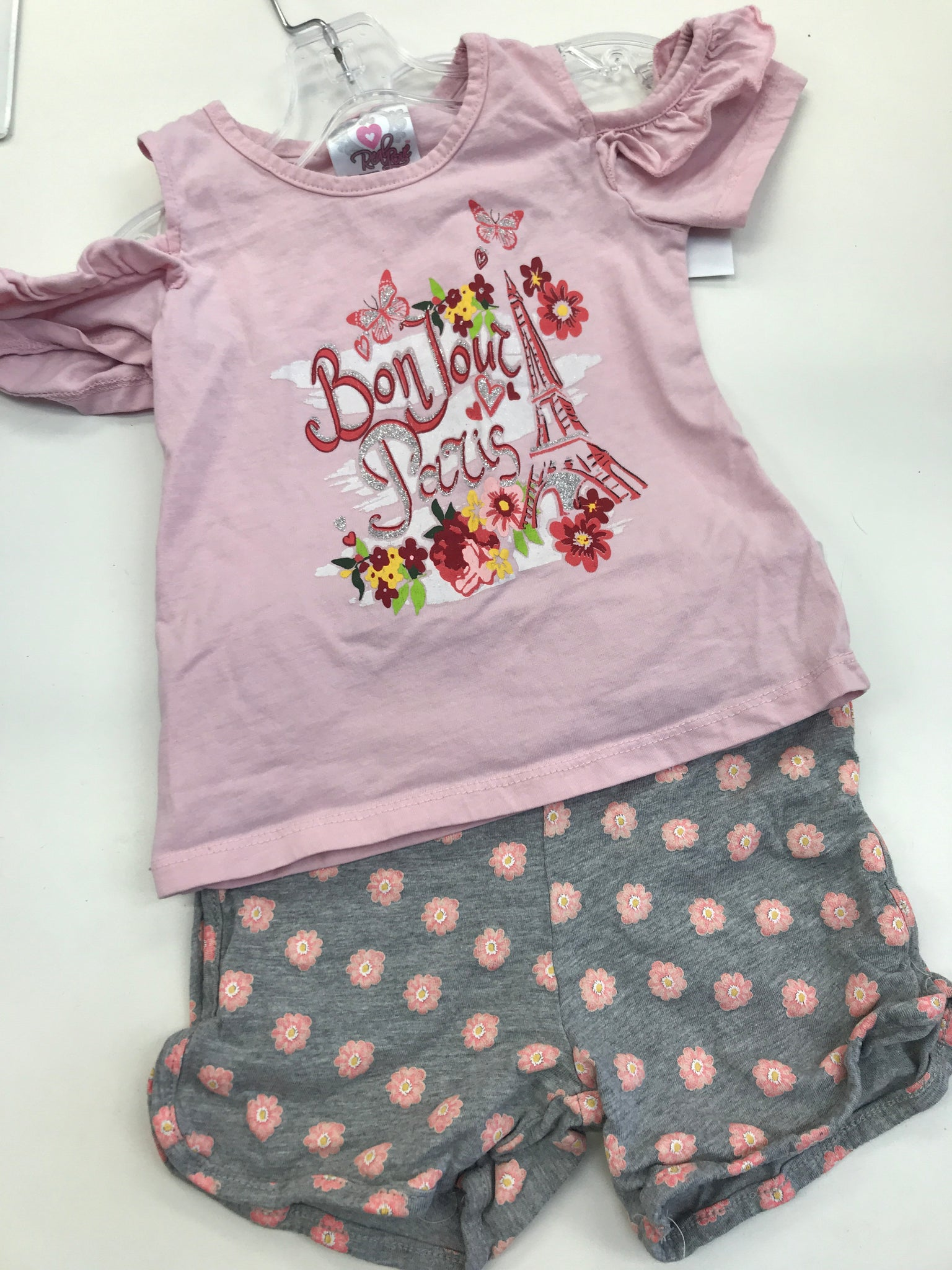 4T Real Love 2pc shorts set