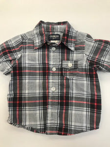 Boys Button Up Shirt Oshkosh 6-9 months