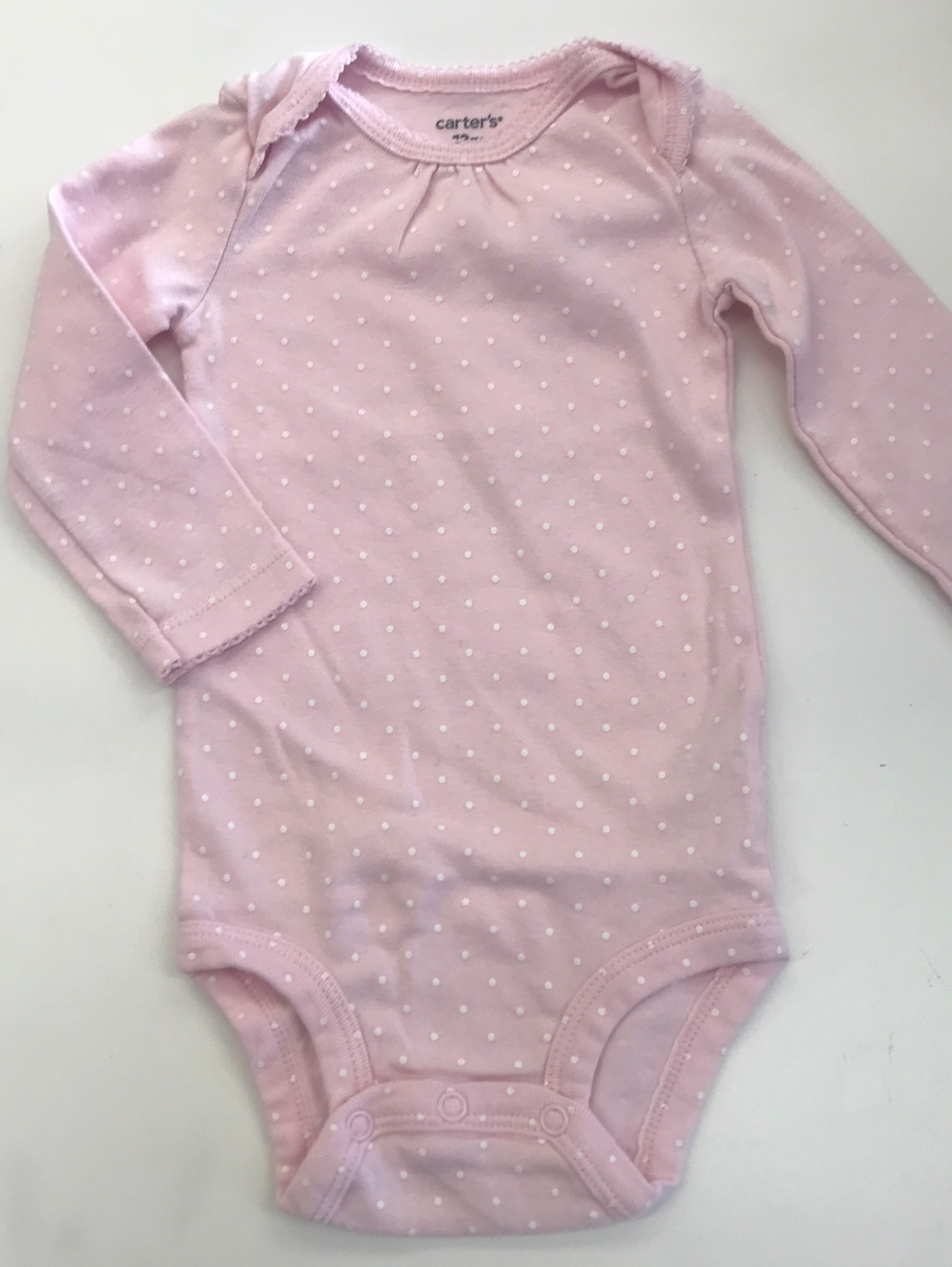 Girls Long sleeve Onesie Carter's 12 months
