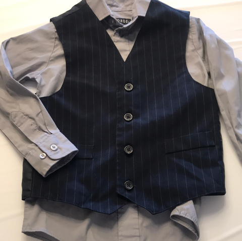 6/7 George Long Sleeve Dress Shirt and Vest