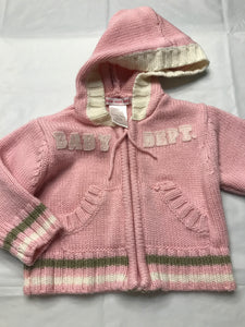 0-3 Months Zip Up Sweater