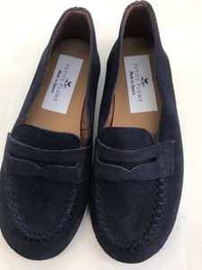 13 Petite Plume The George Slipper in Navy Suede