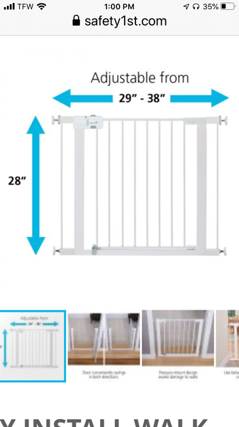 Safety 1st EASY INSTALL WALK-THROUGH GATE