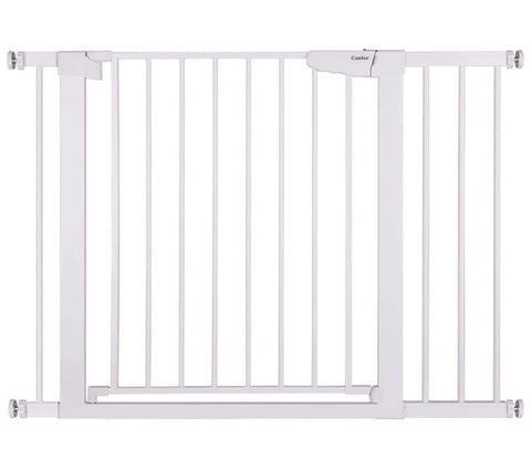 "Cumbor 43.3"" Auto Close Safety Baby Gate, Extra Tall and Wide Durable Extra Wide Child Gate for Stairs,Doorways, Easy Walk Thru"