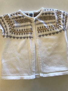9m Carter's White Cardigan