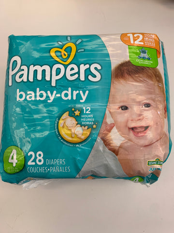 4 Pampers Baby-Dry Diapers