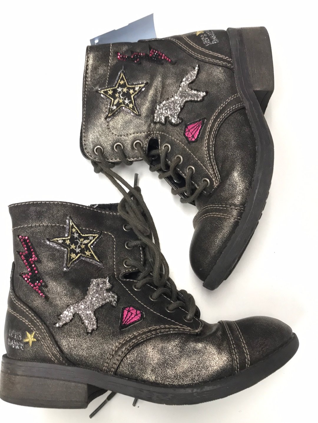 Girls Youth Combat Boots Justice 2