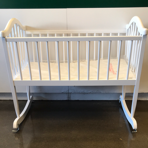 Dream On Me Rocking Wooden Cradle White