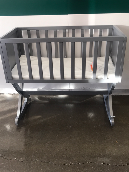 Dream On Me Haven Baby Rocking Wooden Cradle Gray