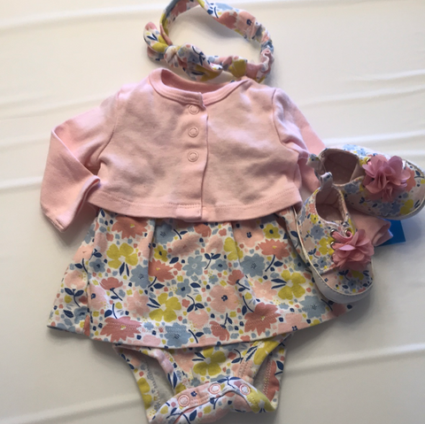 NB Child of Mine Dress with Headband and shoes