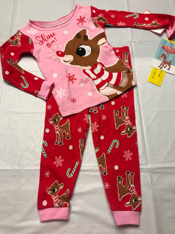 2T Rudolph pajamas 2pc