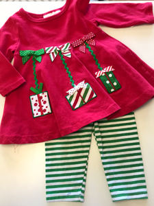 6-9 month Bonnie Baby 2 PC Holiday