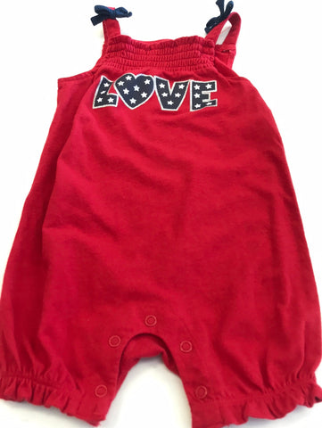 Girls Outfit 1 piece Romper Patriotic 6 months