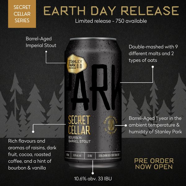 Secret Cellar Bourbon Barrel Stout - PARKBEER 473ml Tall Can