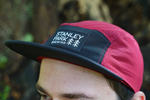 Cycling 5-Panel Cycling Cap - Red & Black