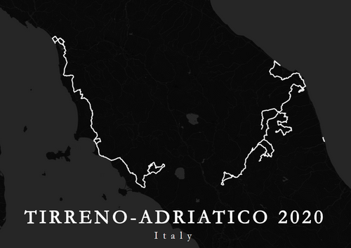 Map of a world tour race Tirreno-Adriatico