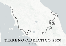 Load image into Gallery viewer, Map of a world tour race Tirreno-Adriatico