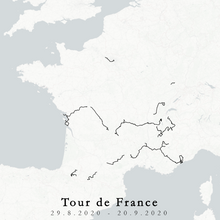 Load image into Gallery viewer, Tour de France 2020 map