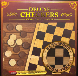 Wooden Checkers Game