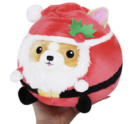 Corgi in Santa Suit