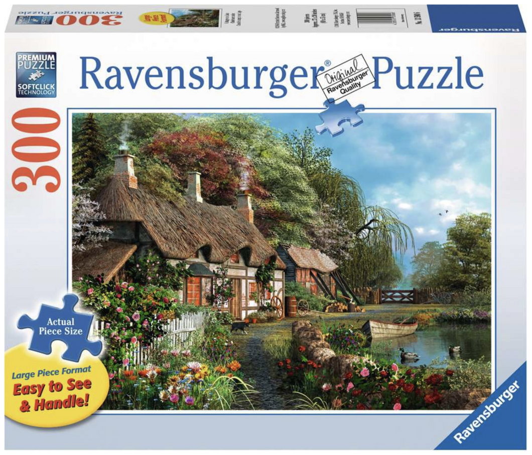 Cottage on a Lake 300 Piece Puzzle (Large Format)