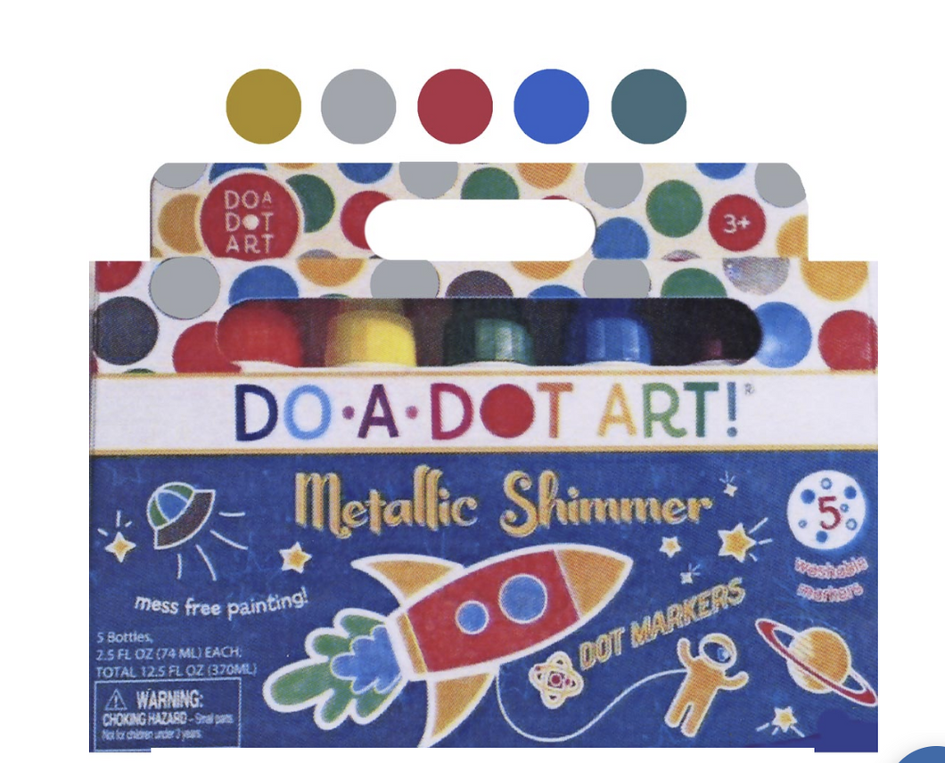 Dot-A-Dot Art 5-Pack Metallic Markers
