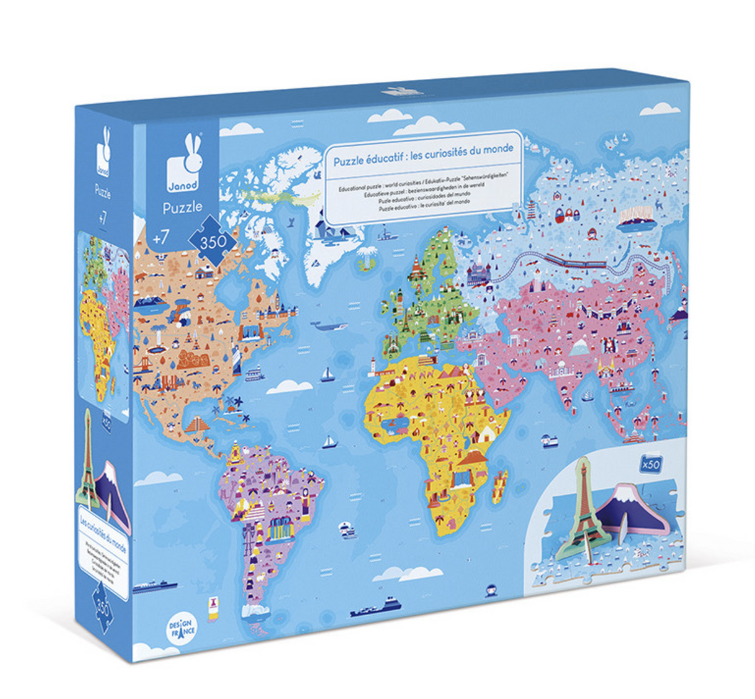 Educational 3D Puzzle World Curiosities
