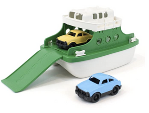 Green & White Ferry Boat