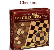 Load image into Gallery viewer, Wooden Checkers Game