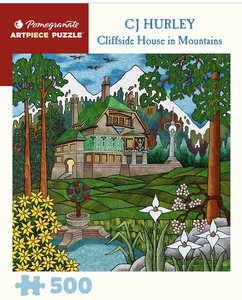 Cliffside House By The Mountains 500 Piece Puzzle