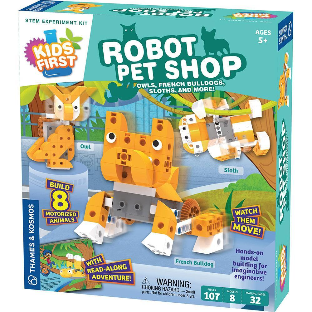 Kids First Robot Pet Shop: Owls, French Bulldogs, Sloths, and More!