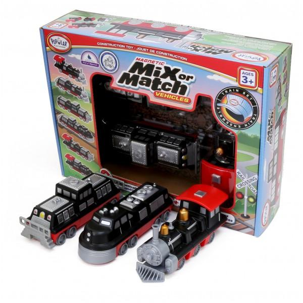 Magnetic Mix Or Match Vehicles: Trains