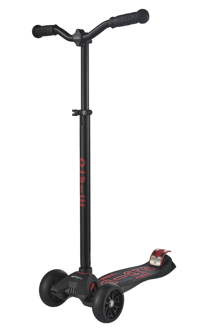 Micro Maxi Deluxe Pro Scooter: Black/Red