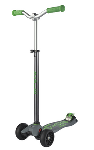 Micro Maxi Deluxe Pro Scooter: Grey/Green