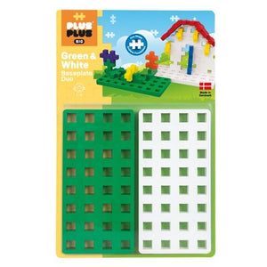 Plus Plus Big Baseplate Duo (Green and White)