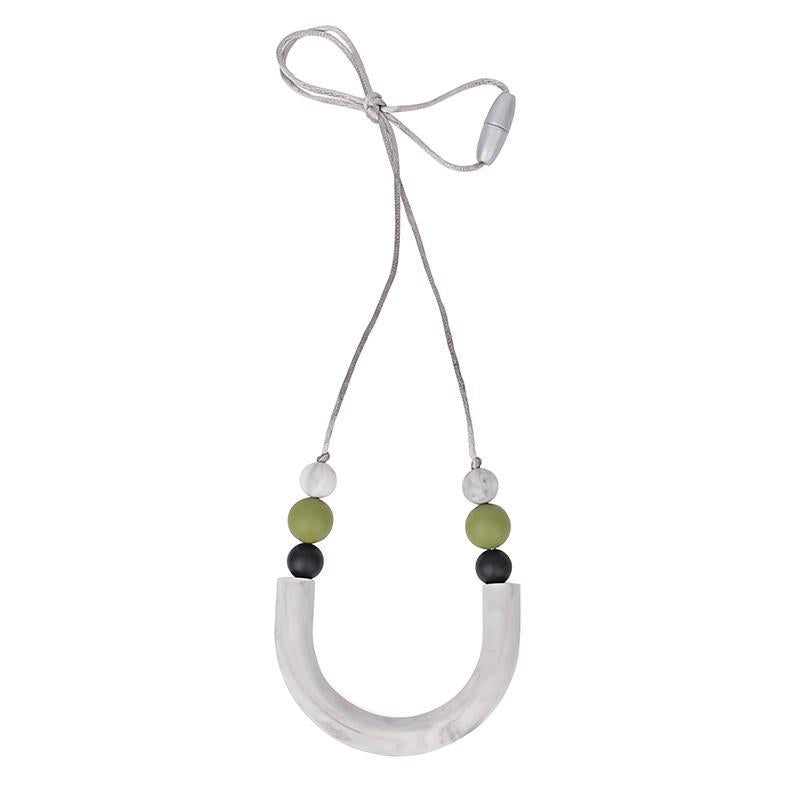 Silicone U Tube Style Teething Necklace