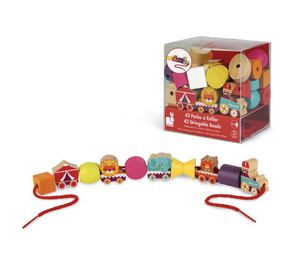 Stringable Circus-Theme Beads