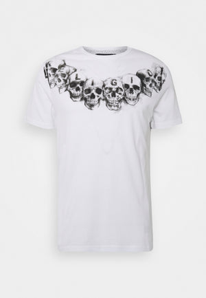 Religion NECKLACE SKULL PRINT T-SHIRT