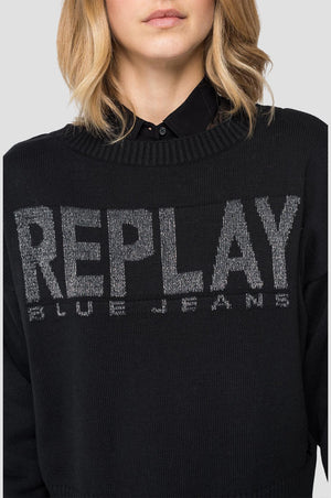 REPLAY PULLOVER black