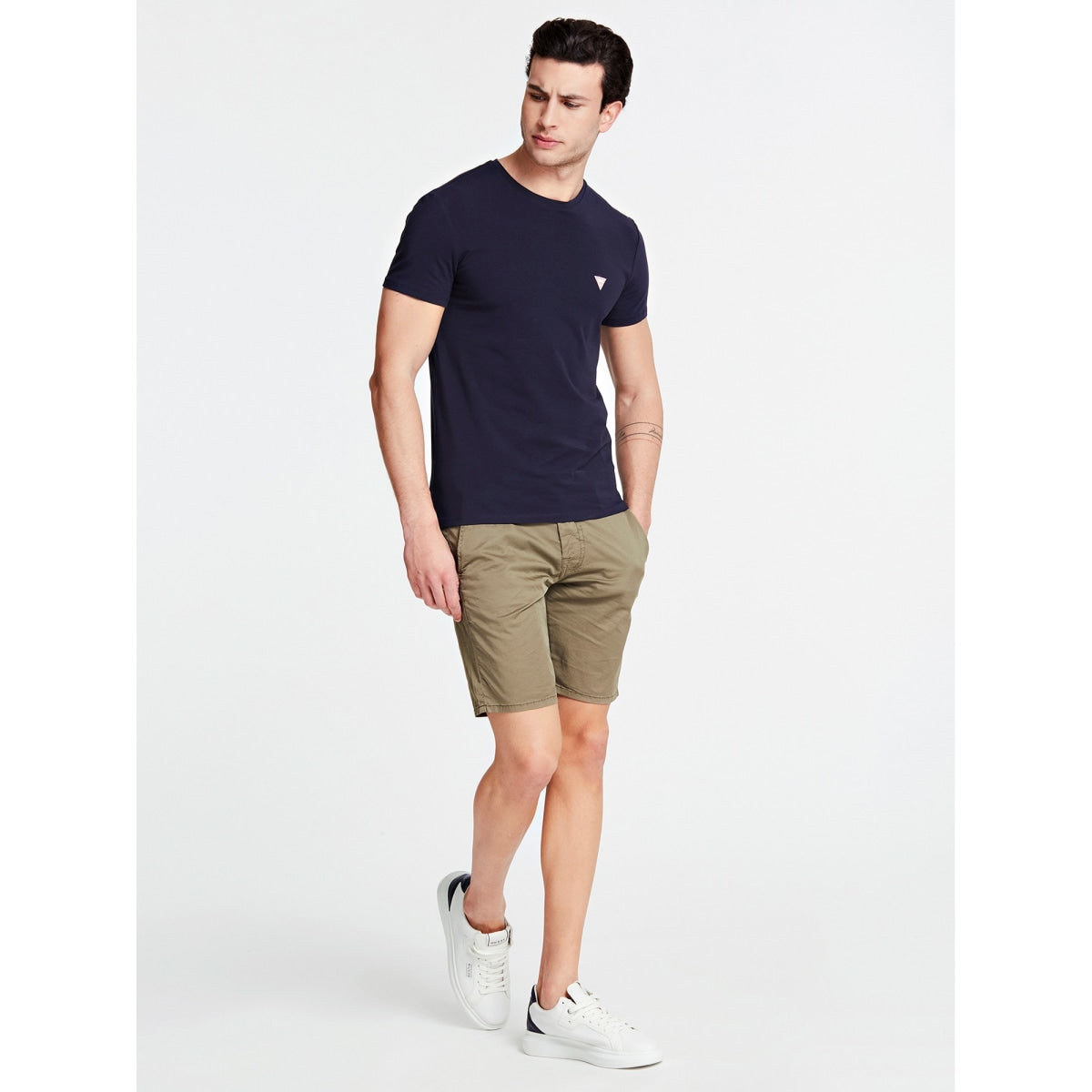 GUESS T-Shirt Slim Fit rundhals dunkelblau