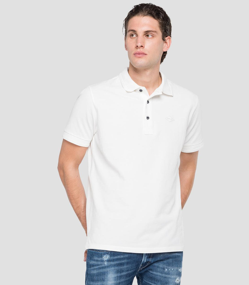 REPLAY POLO SHIRT weiß M3070