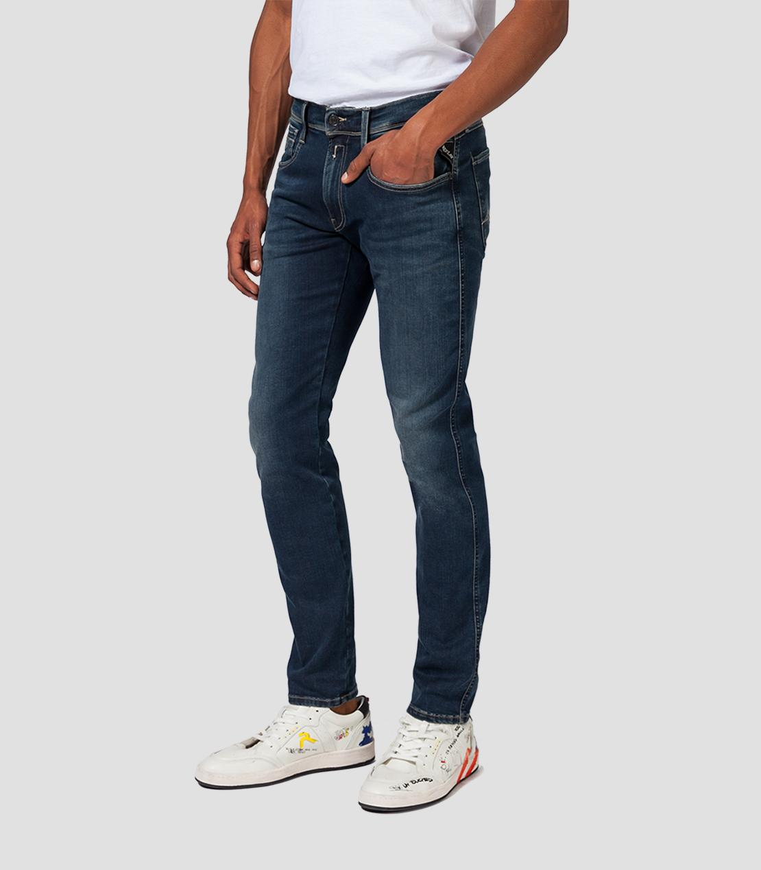 Replay Hyperflex Jeans dunkelblau