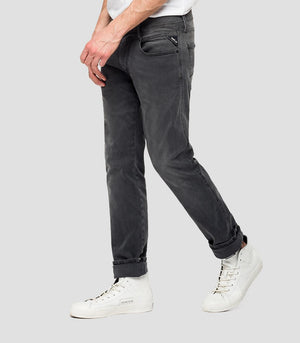 REPLAY SLIM FIT JEANS HYPERFLEX RE-USED ANBASS dunkelgrau