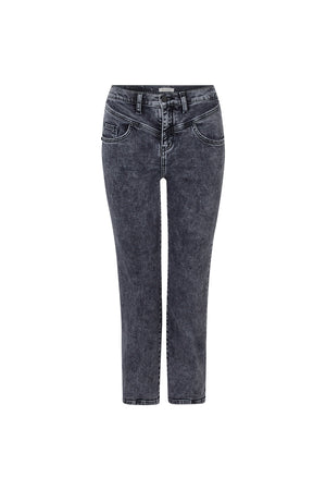 Rich&Royal VINTAGE STRAIGHT JEANS black denim