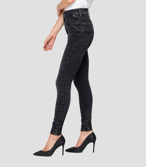 REPLAY HIGH WAIST FIT JEANS HYPERFLEX RE-USED LEYLA black