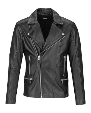 Tigha Lederjacke Younes black