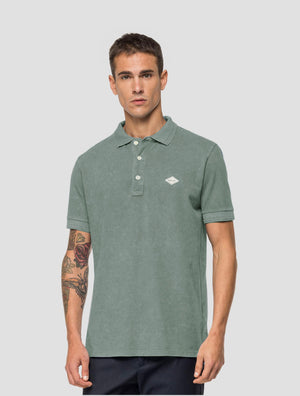 Replay Polo-Shirt schlammgrün