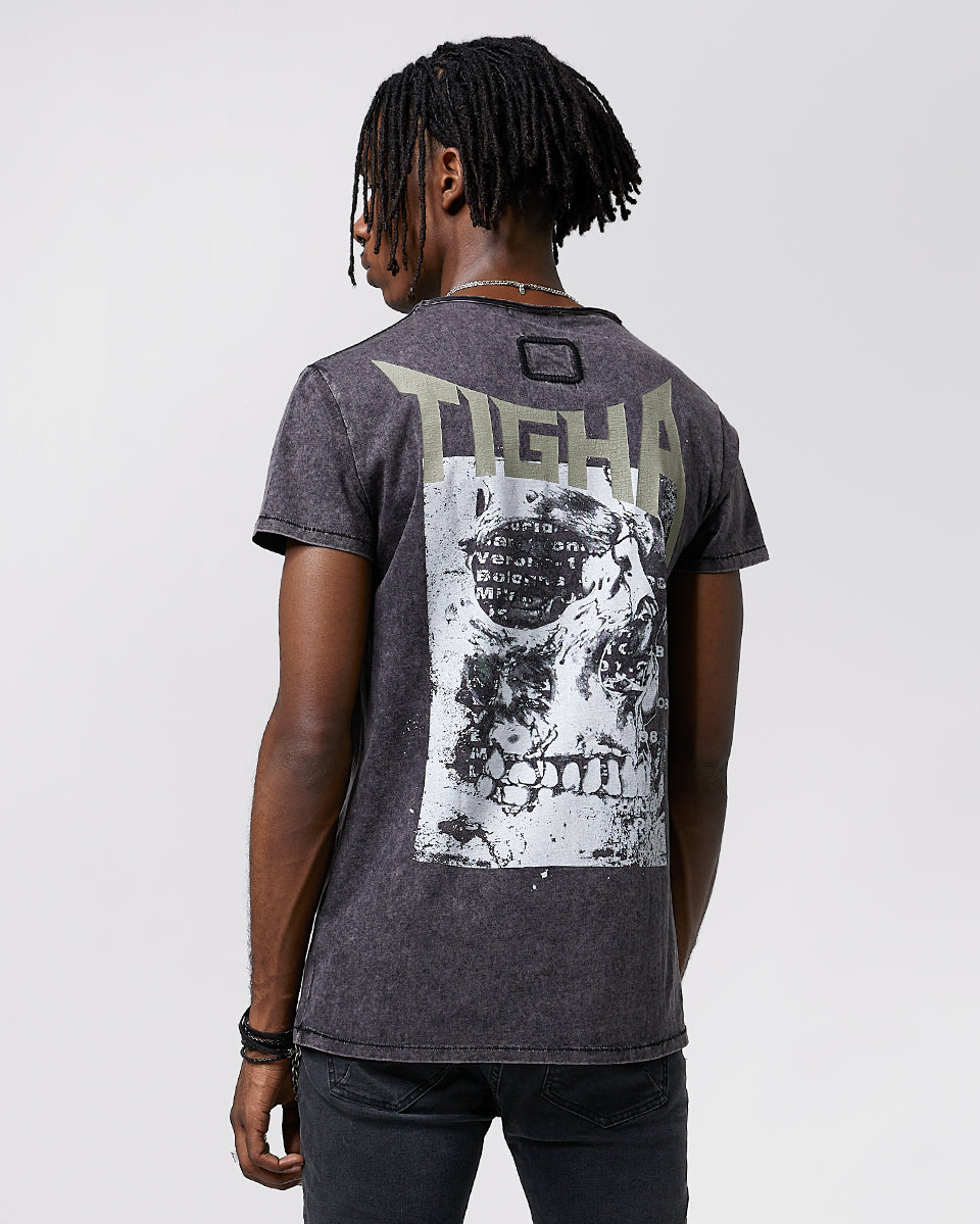 Tigha Band Shirt Wren vintage grey