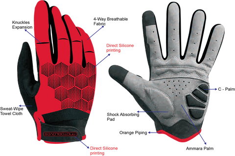 ProtoGloves Dark Red